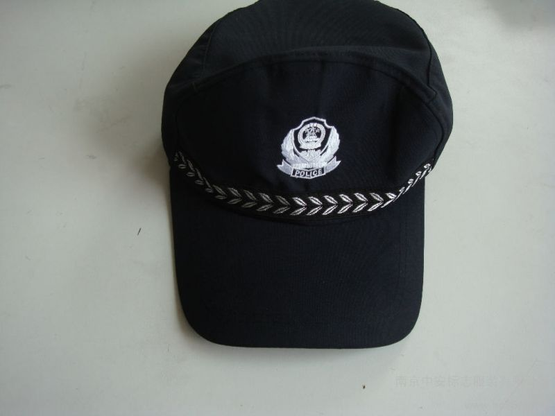 黑色保安帽