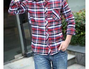 男士花格子衬衫